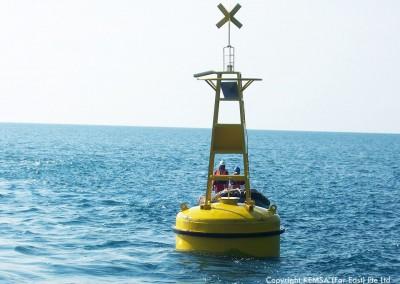 steel navigational buoy
